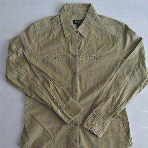 Eddie Bauer Women's Pinwale Corduroy Shirt Size LG